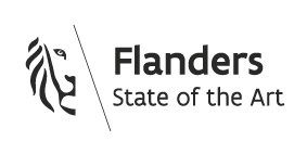 "Vermeld naast het logo deze tekst aub: ""Realization with the cooperation of Flanders Investment & Trade"